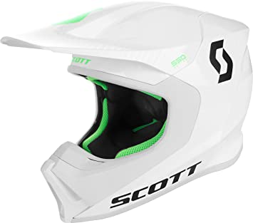 Scott 550 Hatch MX Enduro Moto Casco Blanco/Negro/Verde 2018