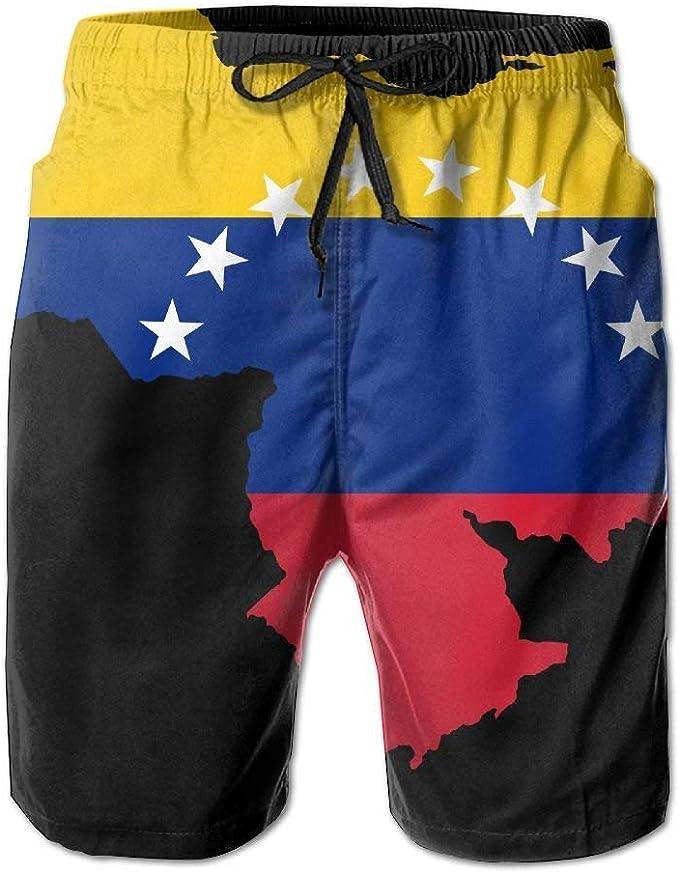 wwoman Venezuela Bandera Mapa Mapa Hombres Playa Surf Tabla Shorts Troncos de natación Pantalones: Amazon.es: Ropa y accesorios