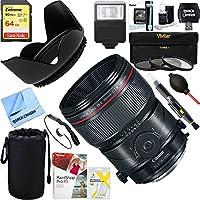 Canon (2274C002) TS-E90mm f/2.8L Fixed Prime Digital SLR MACRO Lens + 64GB Ultimate Filter & Flash Photography Bundle