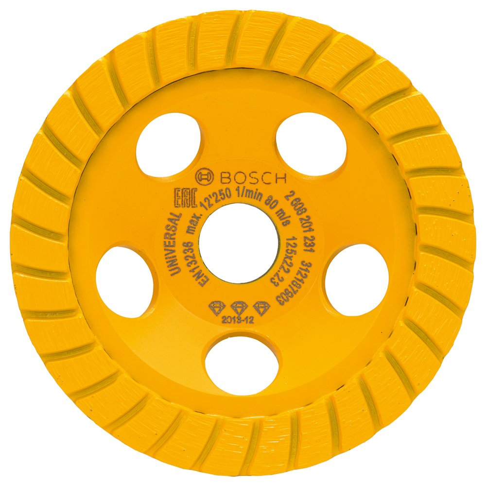 2608201231 BOSCH DIAMOND GRINDING HEAD BEST FOR UNIVERSAL TURBO 125X22.23X5mm