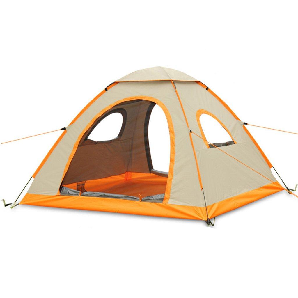 テント、クイックオープン自動防雨オックスフォード布ファミリー屋外キャンプテント (色 : ゴールド)   B07D5TY4YC