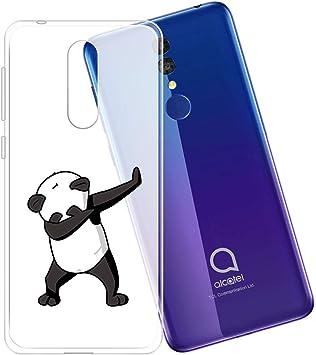 ZXLZKQ Funda Panda Fresco para Alcatel 3 2019 (5.94