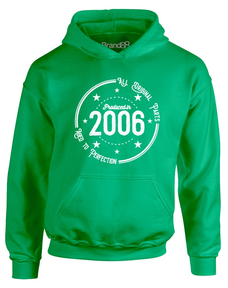 Brand88 - Born in 2006: Aged to Perfection, Kids Printed Hoodie JH01J_BP057
