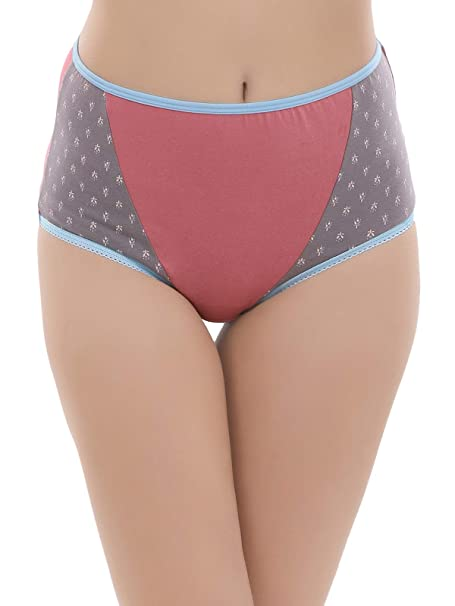 2fd01fdde54 Clovia Women s Cotton High Waist Printed Hipster Panty  Amazon.in  Clothing    Accessories