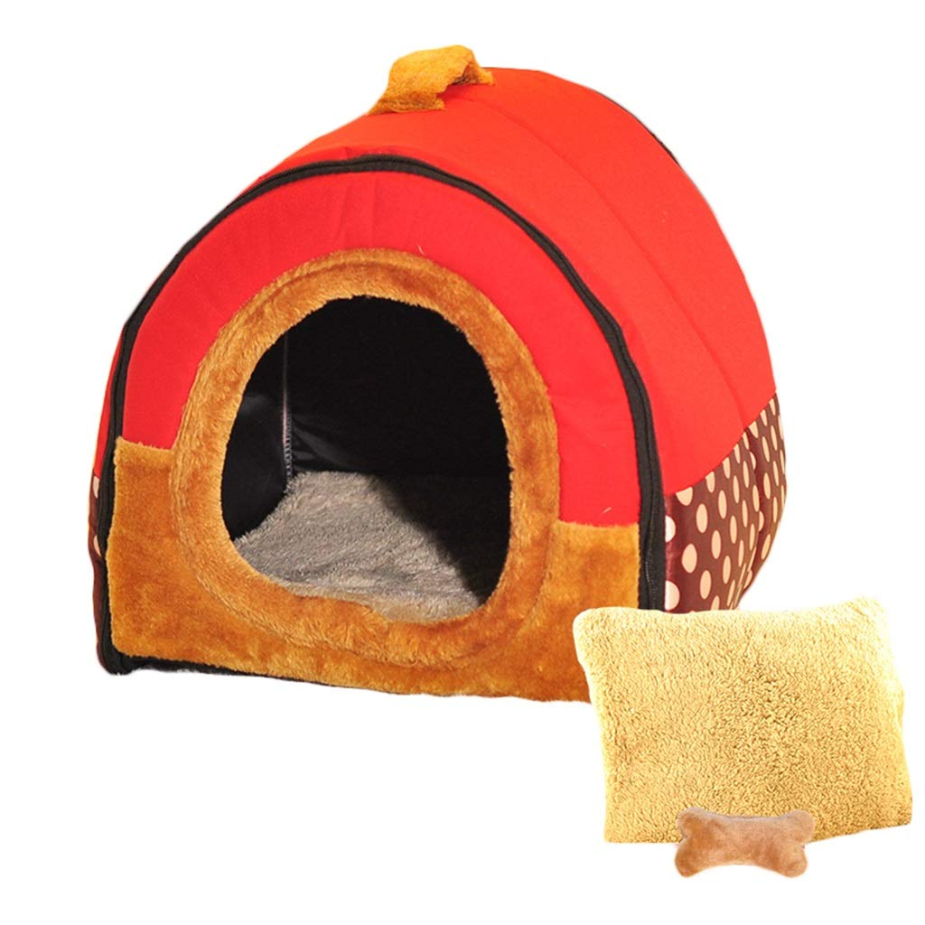 RED Xl RED Xl ZHAO ZHANQIANG Winter warm cat sleeping bag, four seasons universal, cat house, cat house, small dog, kennel pet supplies (color   RED, Size   Xl)