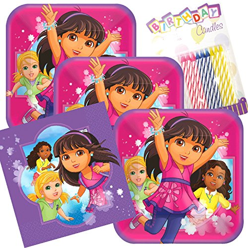 (Lobyn Value Pack Dora & Friends Party Plates and Napkins Serves 16 With Birthday)
