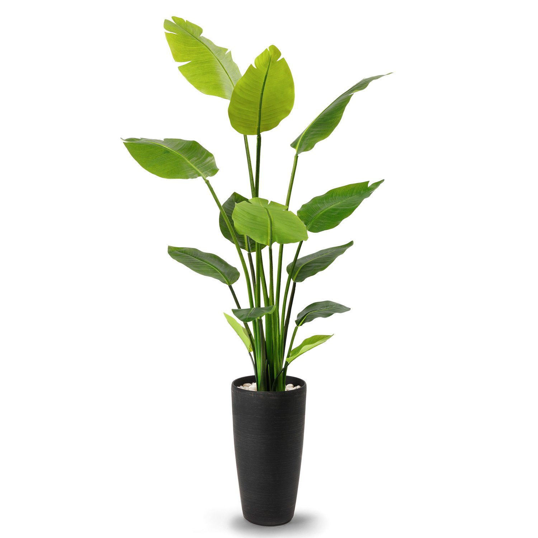 GREENPARK ストレチア エコストーン TPプランター 造花 フェイクグリーン B07DPDNZR2