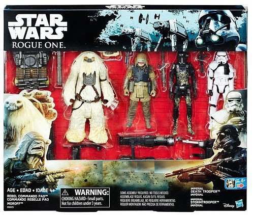 Star Wars Rogue One Death Trooper, Storm Trooper, Rebel Commando Pao & Moroff Exclusive Action Figure 4-Pack