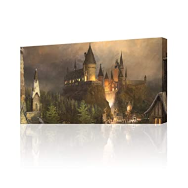 Hogwarts Harry Potter Canvas Print Wall Art Decor Giclee4 Sizes CA140, Small