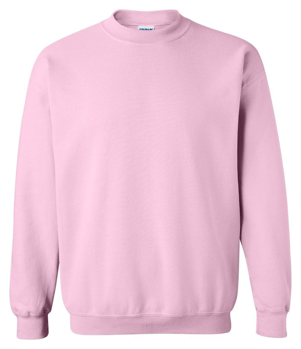 Gildan Heavy Blend Unisex Adult Crewneck Sweatshirt (M) (Light Pink) by Gildan