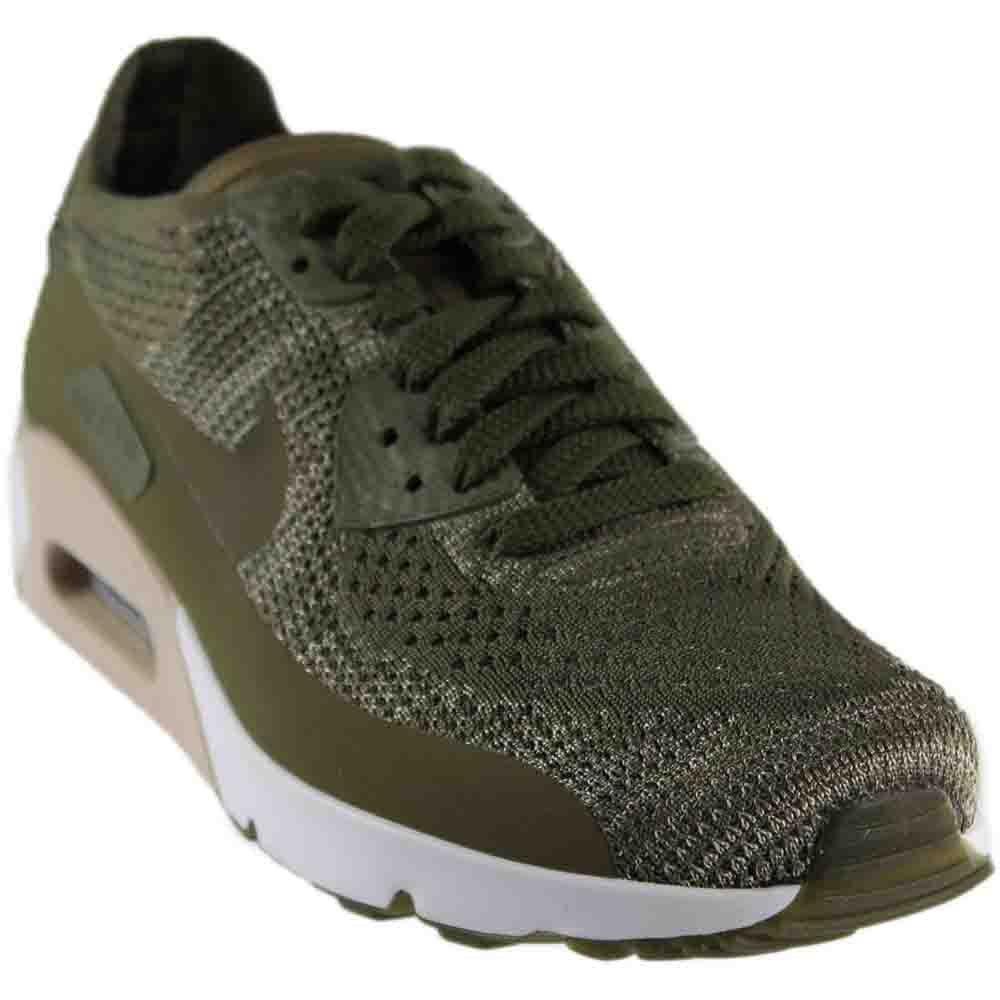Nike Herren Air Max 90 Ultra 2.0 Flyknit Sneaker  41 EU|Oliv (Medium Olive/String)