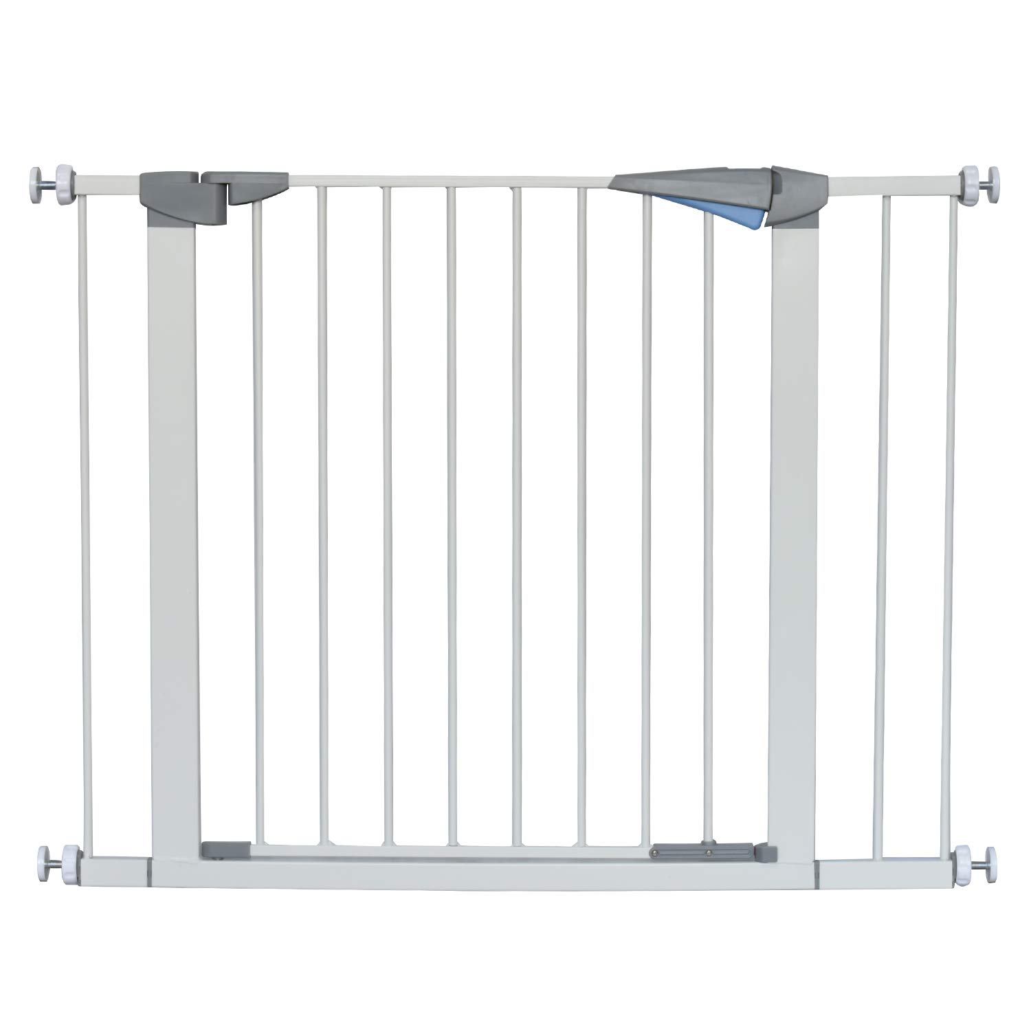 LEMKA Walk Thru Gate,Auto-Close Safety Gate Metal Expandable Pet Gate Includes 2.8'' & 5.5'' Extension for Pressure Mount for Stairs,Doorways,Fits Spaces Between 31'' to 42'' Wide 30'' High