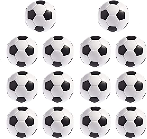 Foosball Balls, 14 Piezas de Repuesto para Mesa de futbolín 36 mm, tamaño de Mesa de Juego Negro y Blanco: Amazon.es: Hogar
