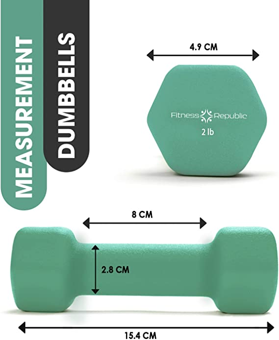 MeButiko A Pair Dumbbell Barbell Neoprene Coated Weights 6 Pound Blue for Personal Exercise,Outdoor/&Indoor Sports,Compact Home Office Trainer Fitness Supplies