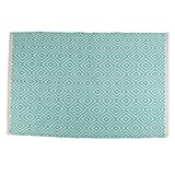 DII Contemporary Reversible Area Rug for Kitchen, Livingroom, Entry Way, Laundry Room, Dorm Room, and Bedroom - 2 x 3-Feet, Aqua Diamond