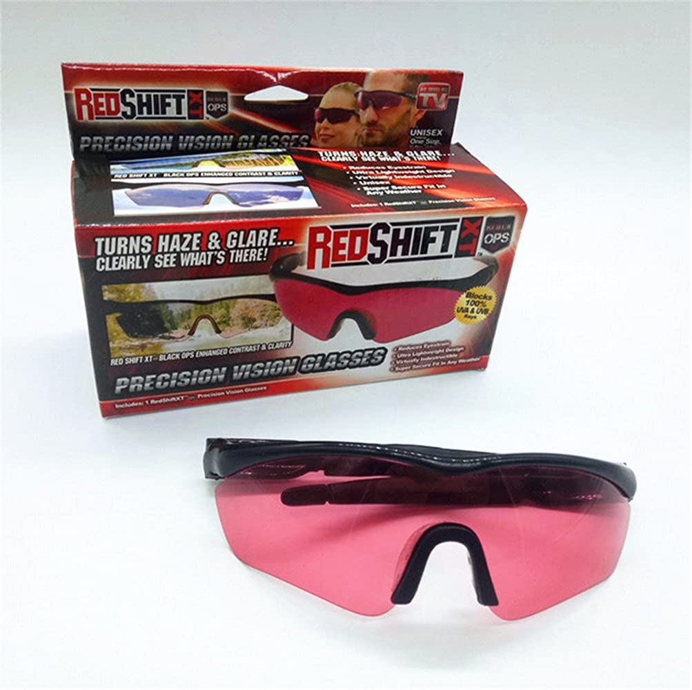 0c3ee98b80 Amazon.com  Precision Vision UV-Blocking Sunglasses - Ultra lightweight RED  SHIFT XT Infrared protective glasses for Men Women Cycling Running Fishing  ...