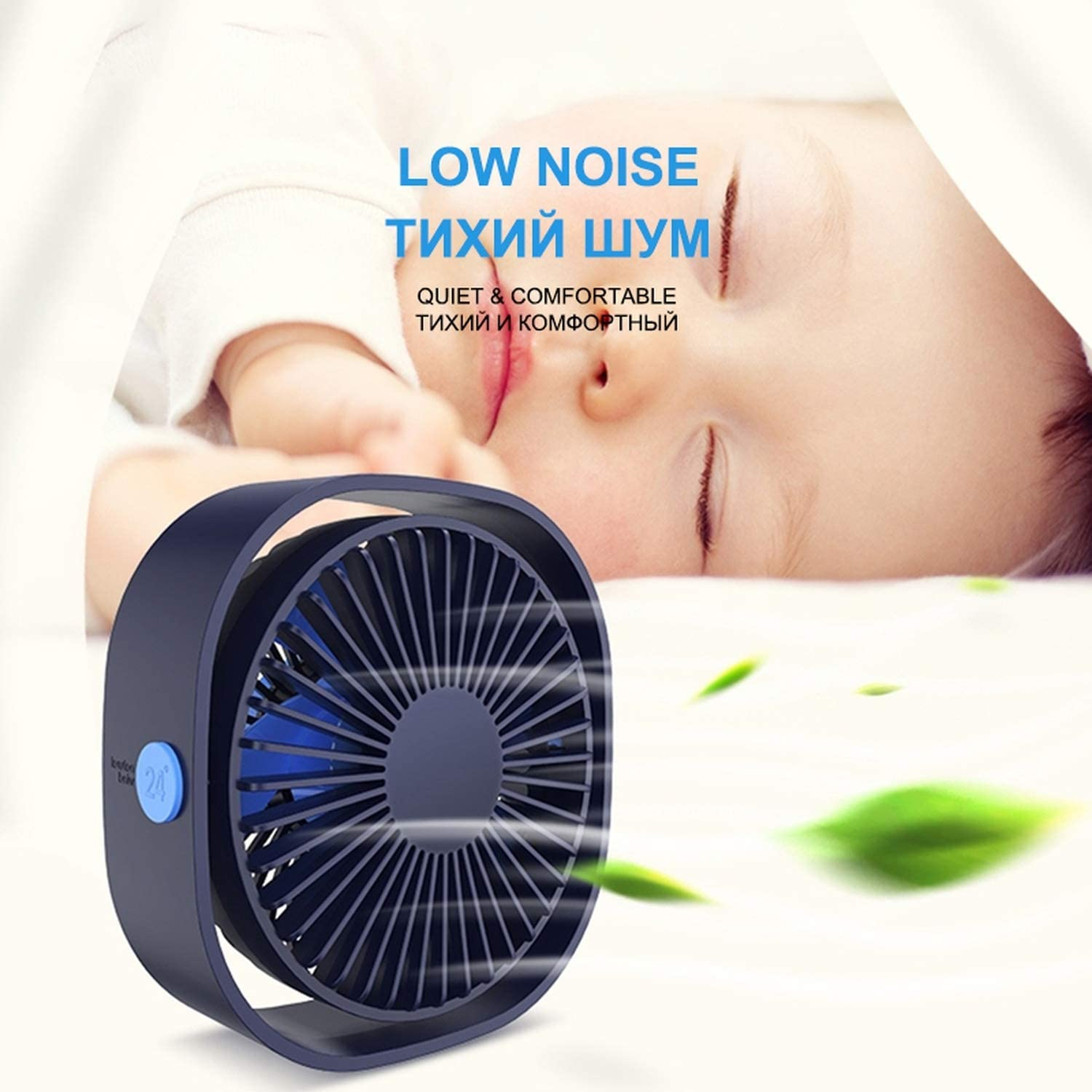 Newest Desktop Stand Fan with 360 Angle Adjustable USB Handheld Fan 3 Colors Low Noise Table Fans Air Cooling Electrical Fan,Pink