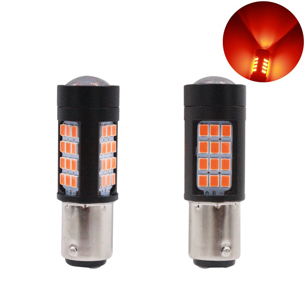 T20.42D.R YIJINSHENG 2 PCS 360/° Bright Red 42 SMD 3030 7443 7444 7441 T20 1157 LED Auto Replacement Bulbs For Car Brake Tail Lights Parking Lights T20 7443