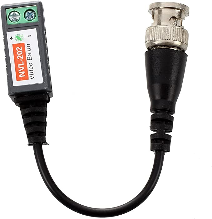 UTP Adaptador de cable - TOOGOO(R)2pzs red Reseau CAT5 a camara pasiva CCTV BNC coaxial video balun Adaptador UTP Cable Coaxial: Amazon.es: Electrónica