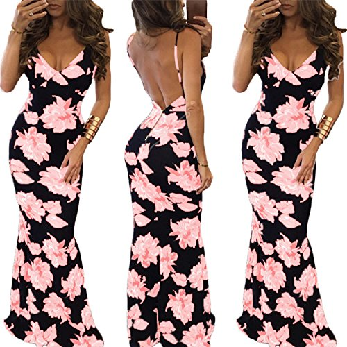 2017 Vintage Floral Print Boho Maxi Dress Plus Size - 5