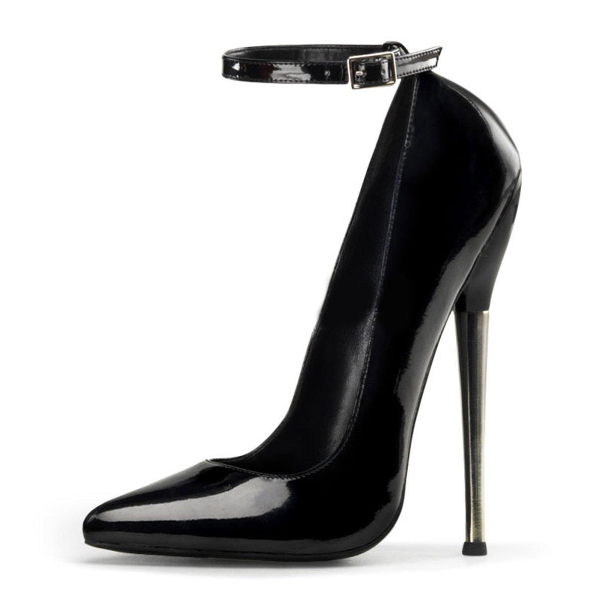 Devious High Heels Heels Heels Pumps Dagger-12 Lack Schwarz ae6e38