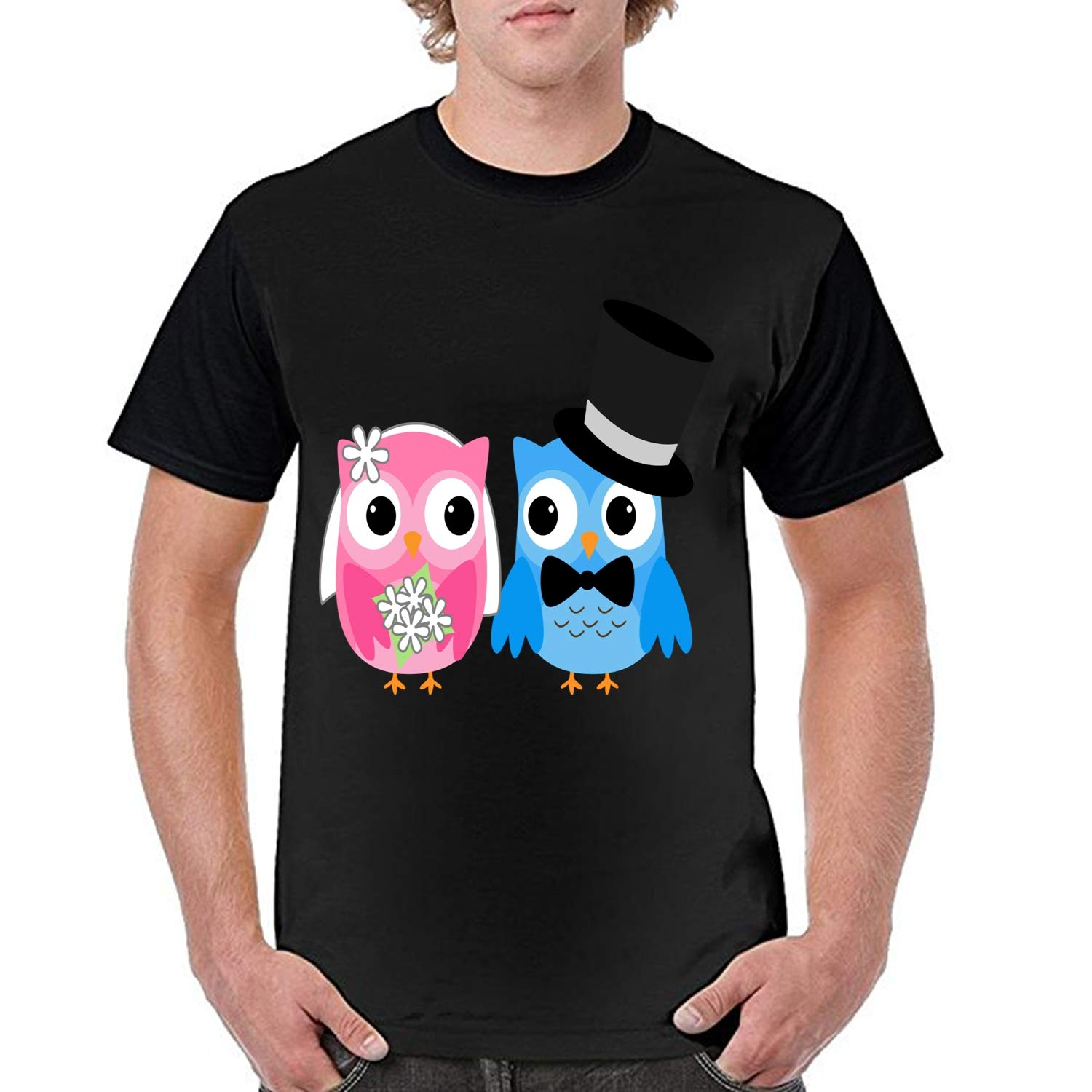 Owl Wedding Unisex Modern FIT T-Shirt£¬Summer Short Sleeved Fashion Lounge Cotton Blouse