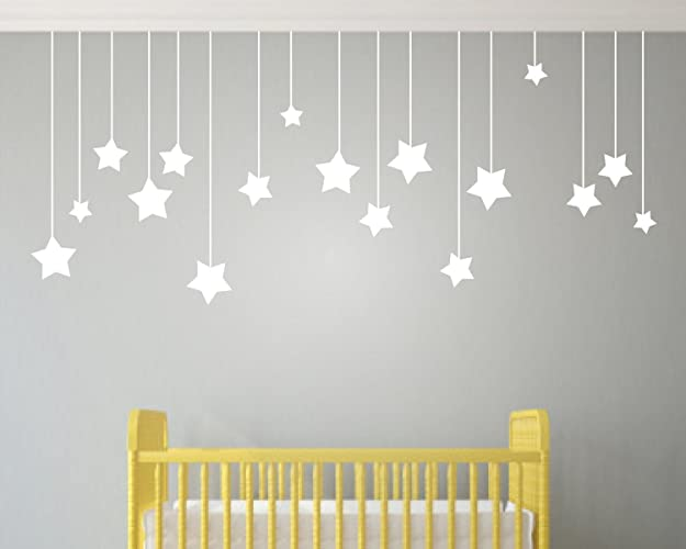 childrens wall stickers hanging stars wall stickers kids wall