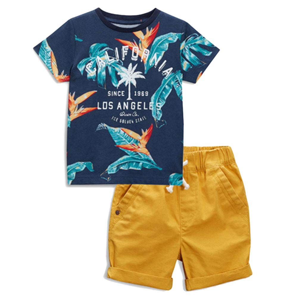 Little Bitty Little Boy Short Set Summer Cotton Clothing Set Essential Shorts Set 17LBS11-P