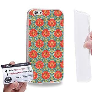 "Case88 [Apple iPhone 6 / 6s (4.7"")] Gel TPU Carcasa/Funda & Tarjeta de garantía - Art Fashion Green Moroccan"