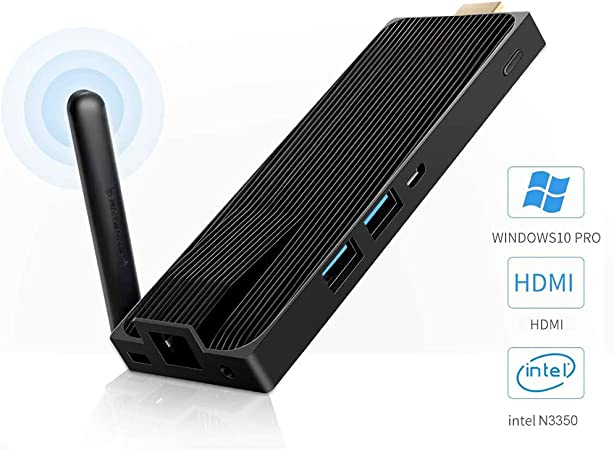 TALLA NV41S N3350 4/64GB. Fanless PC Stick Intel Celeron N3350 Windows 10 Pro Computer Stick 4GB DDR4 64GB Support 4k@60fps Gigabit Ethernet