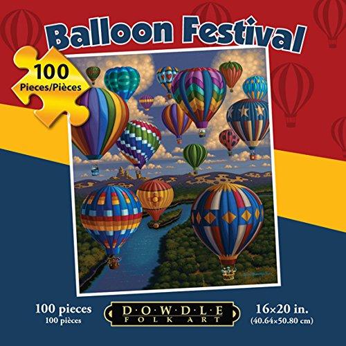 Dowdle Folk Art Balloon Festival Puzzle (100 Piece)