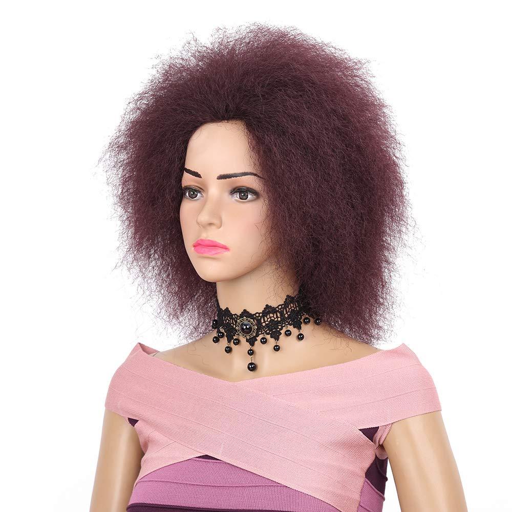 IKVRU Short Wigs, Fluffy Curly Party Cosplay Costume Wig Halloween (6inch Jet schwarz) B07NMKQHRY Perücken & Haarteile für Erwachsene Spaß für Kinder   Neuheit Spielzeug