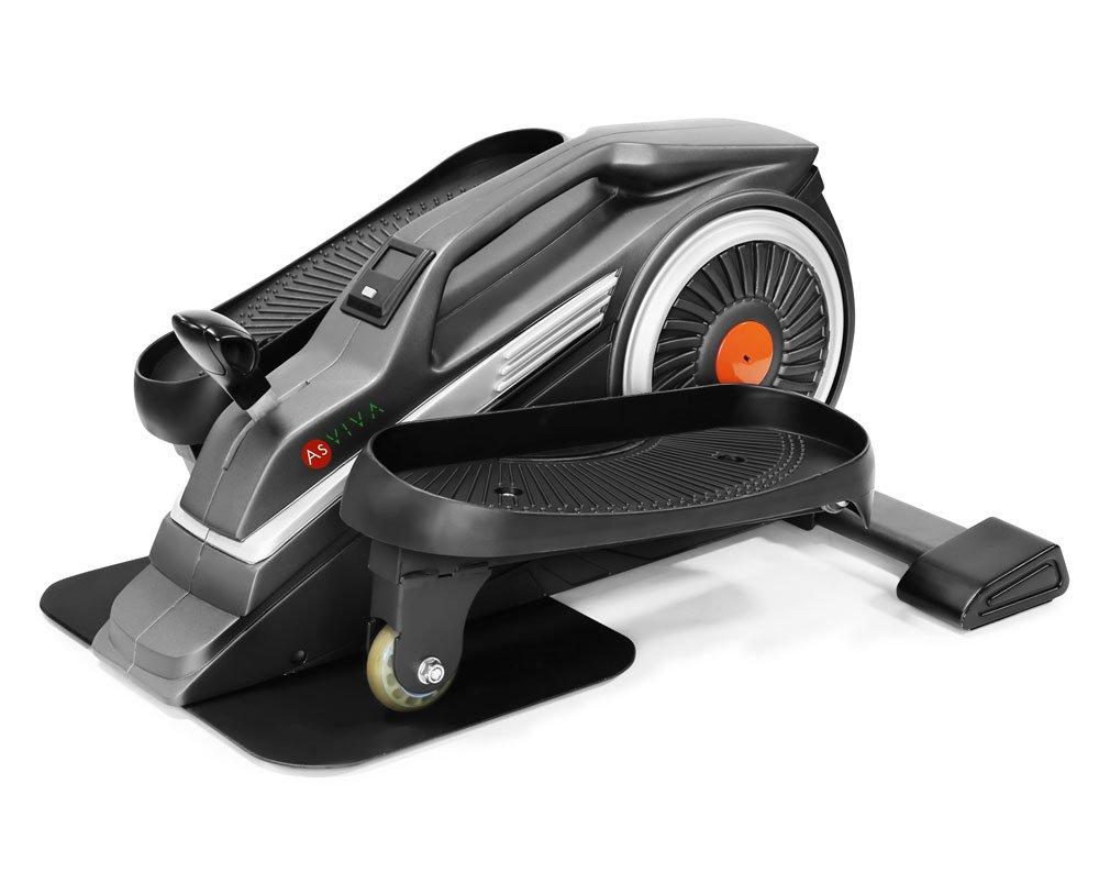 AsVIVA H20 Mini Bike Heimtrainer Cardio mit 3kg Schwungmasse, 8 manuell verstellbaren Widerstandsstufen sowie kugelgelagerten Hartgummi Rollen, inkl. Multifunktionscomputer