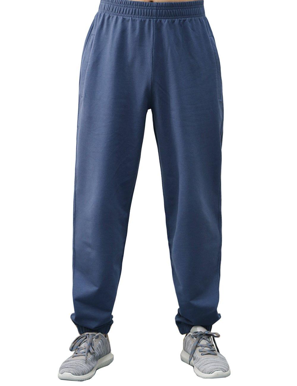 BONWAY Men's Sweatpants Active Pants Jersey Athletic Cotton Sport Pants with Pockets Heavy Sweatpants by BONWAY (Image #1)
