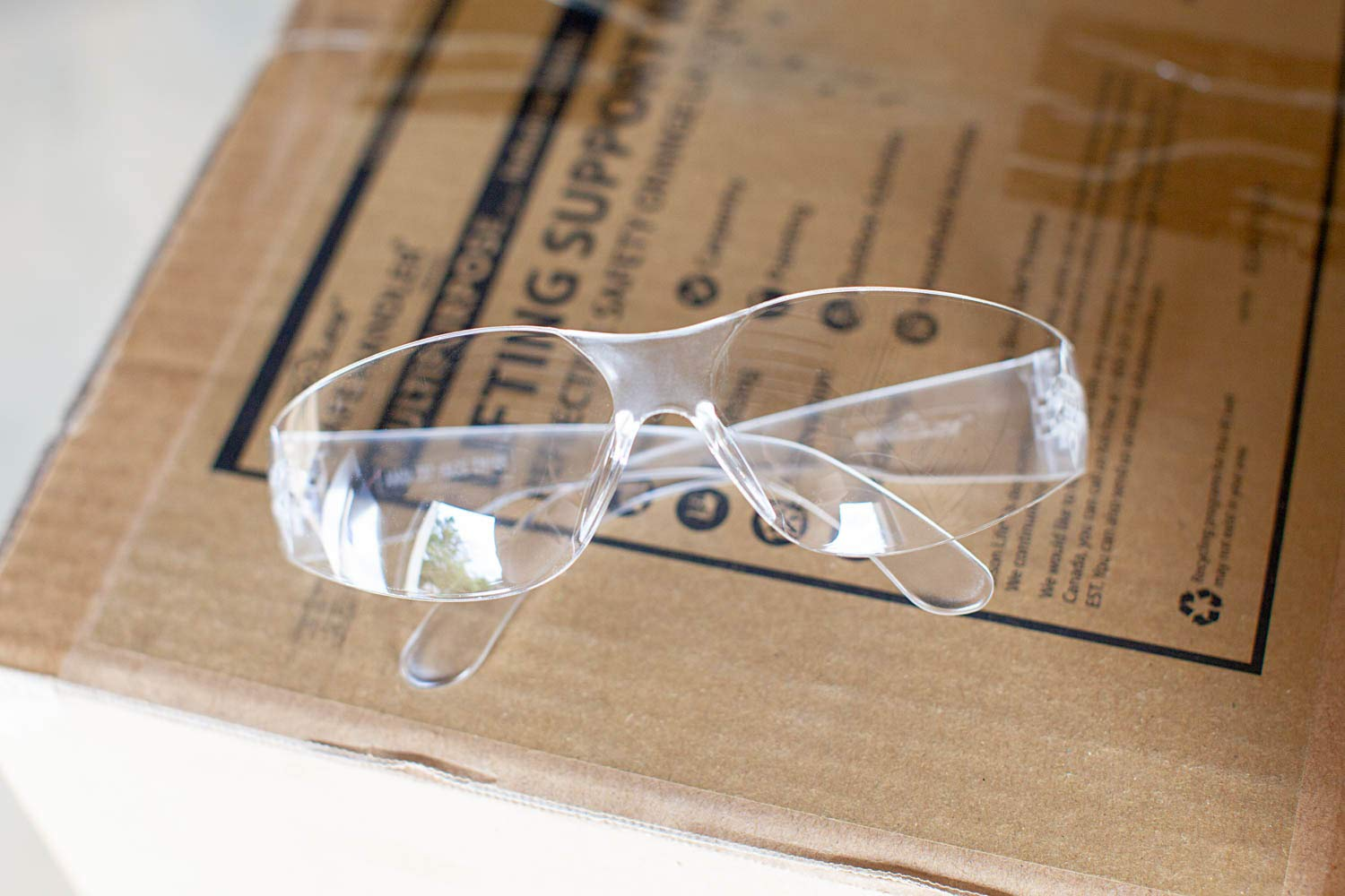 BISON LIFE Safety Glasses | One Size, Clear Protective Polycarbonate Lens, Clear Temple, 12 per Box (Case of 12 boxes, 144 pairs total) by BISON LIFE (Image #7)