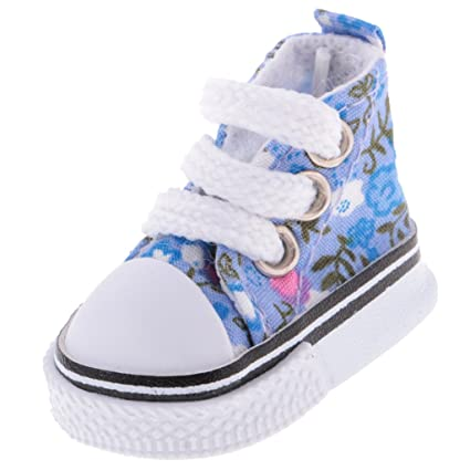 Touch Fasten Canvas Shoes Sneakers for 1//6BJD Doll Clothing Accessories Blue