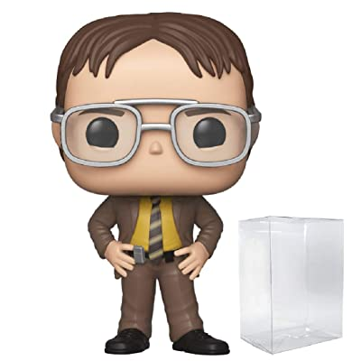 Funko TV: The Office - Dwight Schrute Pop! Vinyl Figure (Includes Compatible Pop Box Protector Case): Toys & Games