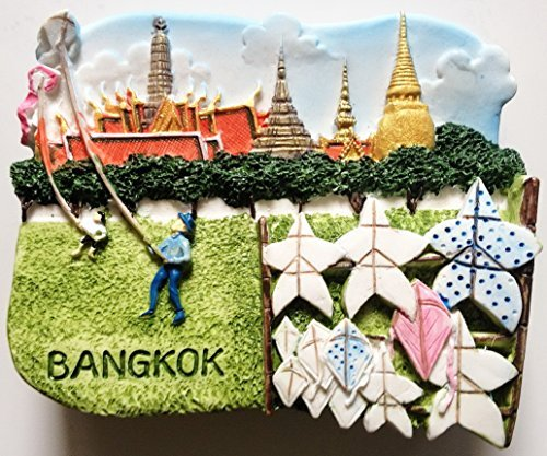Wat Prakeo Sanam Luang Bangkok Thailand Resin 3D fridge Refrigerator Thai Magnet Hand Made Craft. by Thai MCnets by Thai MCnets
