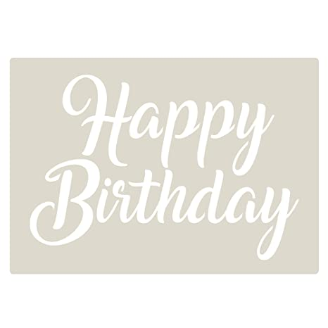 Happy Birthday Decorating Stencil