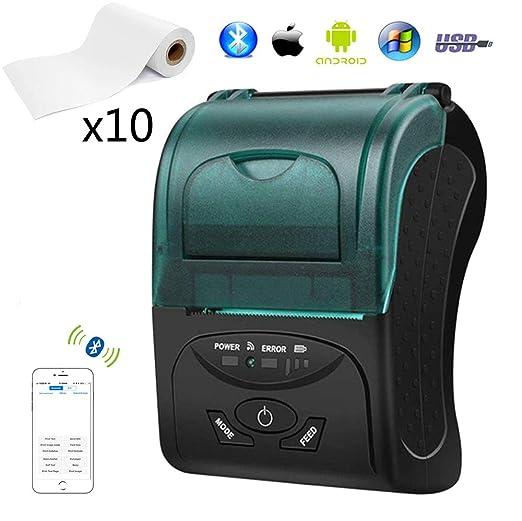 EJOYDUTY Impresoras de Recibos Bluetooth, Impresora térmica ...