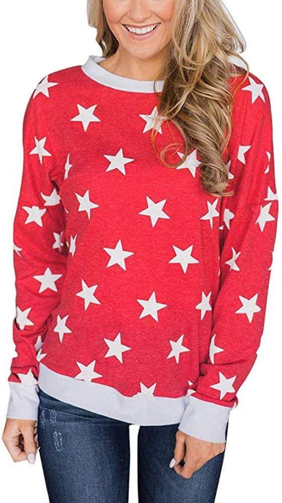 Jiayit blusa casual de manga larga con diseño de estrellas: Amazon.es: Bricolaje y herramientas