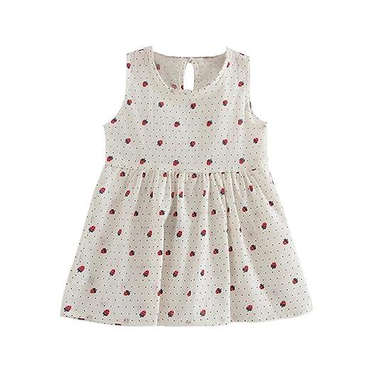 Witspace Toddler Girls Summer Princess Dress Kids Baby Party Wedding Sleeveless  Dresses (1-2 a95c324bb433