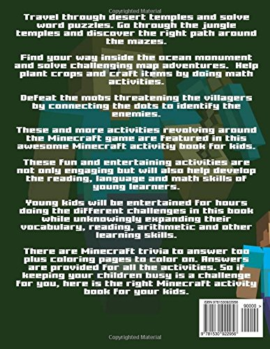 Awesome Minecraft Activities For Kids: An Unofficial