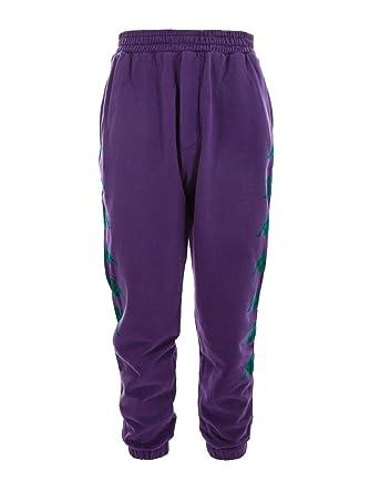 DANILO PAURA X KAPPA Mens DPK3010604 Purple Cotton Pants at ...