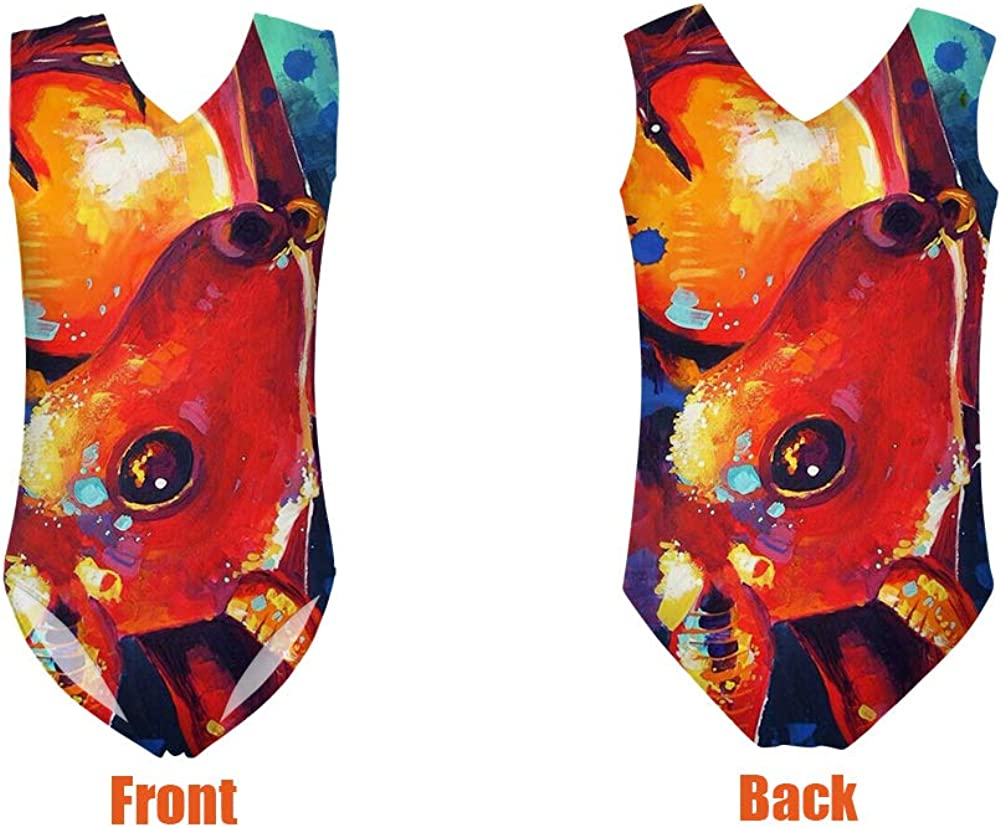 Freewander Kids Swimsuit Printed Swimwear for Girls Cute One Piece Bathing Suit for 3-8 Years