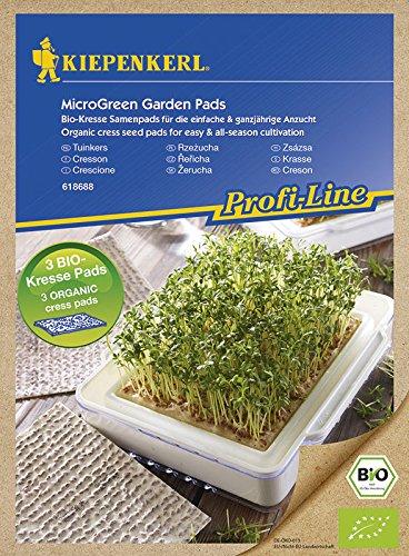 MicroGreen Garden Samenpads Bio Kresse Nachfüllpads, 3 Stück 3 Stück Unbekannt