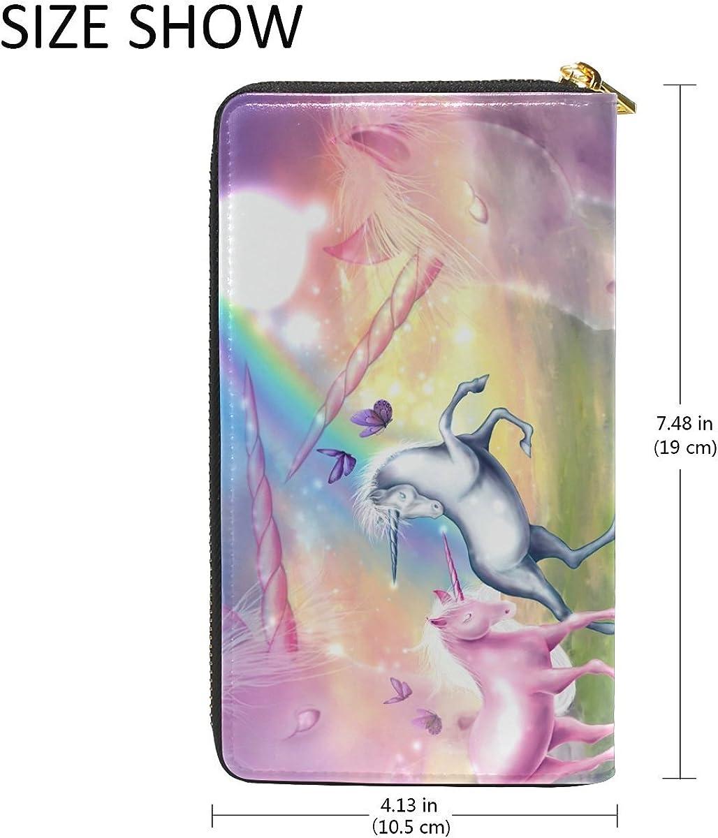 Watercolor Zebra Art Purse Genuine Clutch Wallets Zip Long Leather Handbags Womens