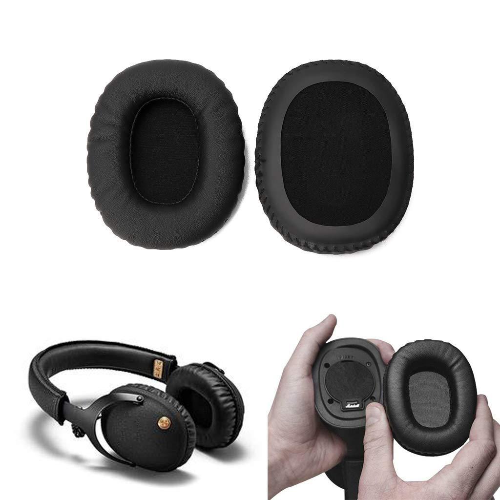 Yizhet Almohadillas de Repuesto para el o/ído Almohadillas para Logitech G933 G633 Auriculares Negro