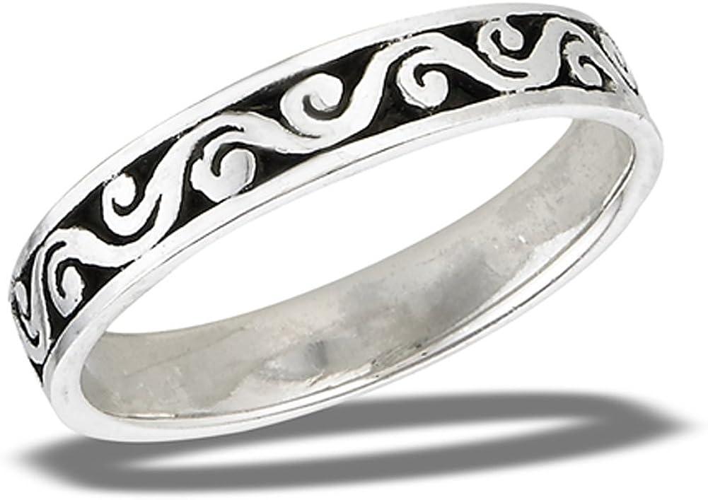 Princess Kylie 925 Sterling Silver Vine Filigree Design Ring