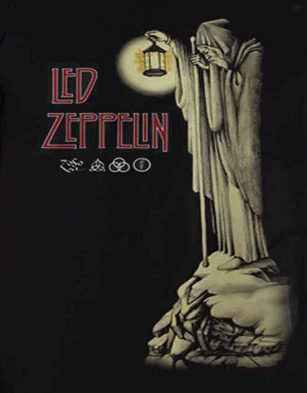 Led Zeppelin T Shirt Stairway to Heaven Hermit Band Logo Nue offiziell Herren